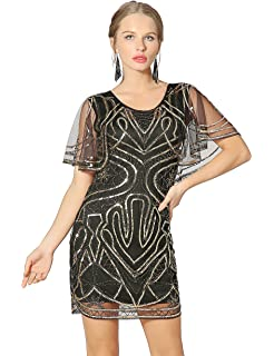 42464473 Metme 1920s Flapper Dresses for Women Great Gatsby Vintage Inspired Sequins  Dress Round…