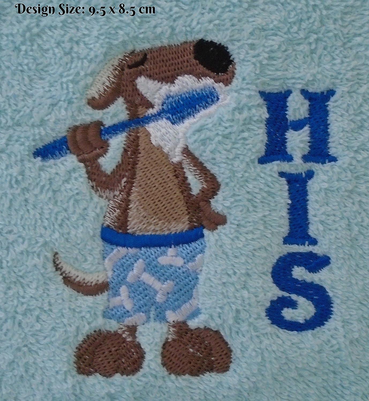 Cepillo de dientes perro su (331) - bordado algodón toalla de baño ...