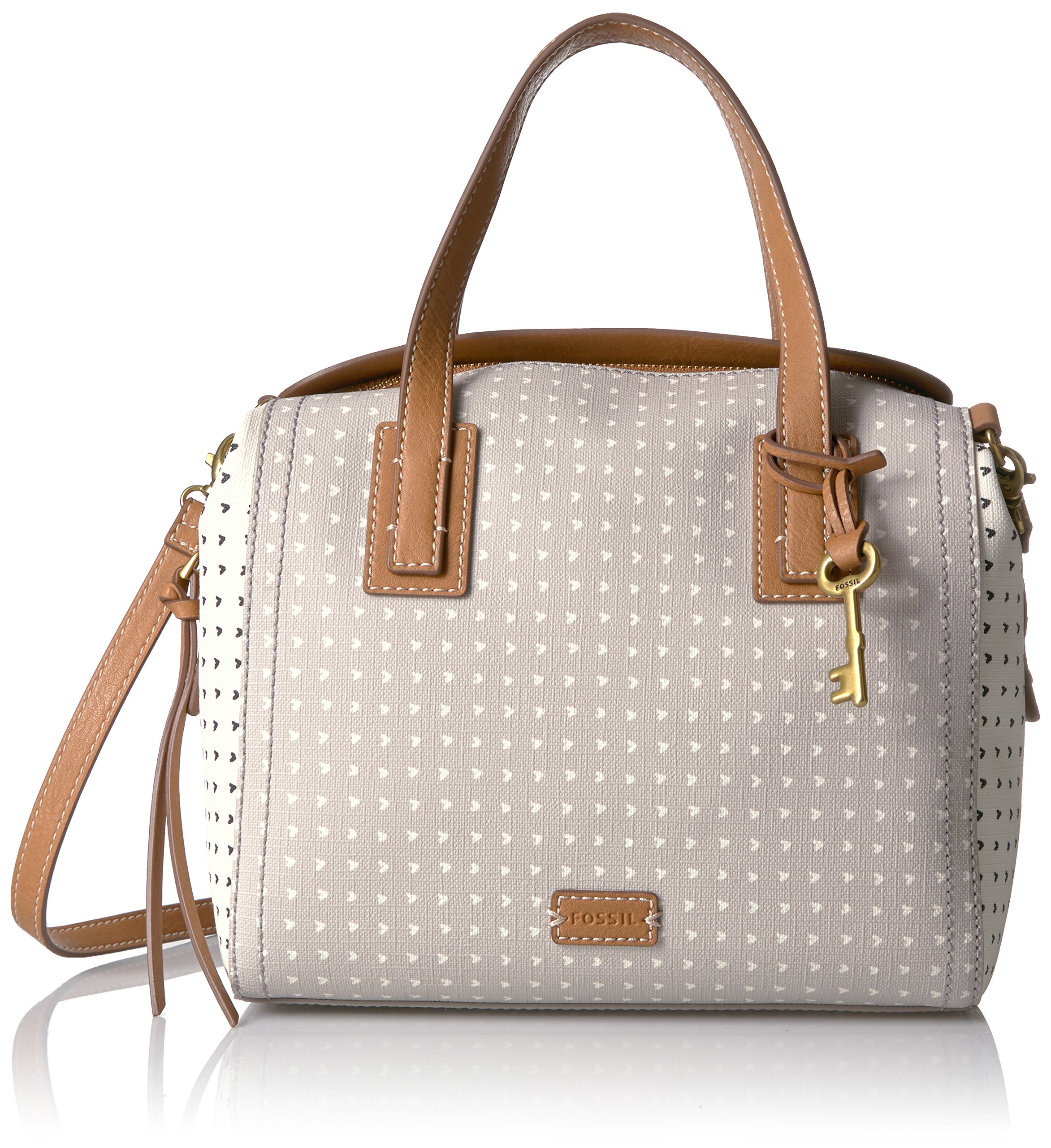 Fossil Emma Satchel, Grey/White, One Size by Fossil
