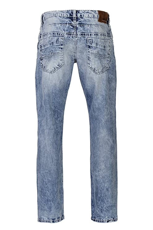 Camp David Herren Jeans Straight Leg CO:NO:C622 Light Vintage Used Comfort FIT