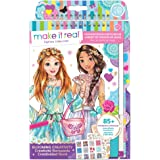 Make It Real - Fashion Design Sketchbook: Blooming Creativity. Inspirational Fashion Design Coloring Book for Girls. Includes