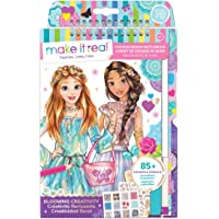 Make It Real - Fashion Design Sketchbook: Blooming Creativity. Inspirational Fashion Design Colouring Book for Girls…