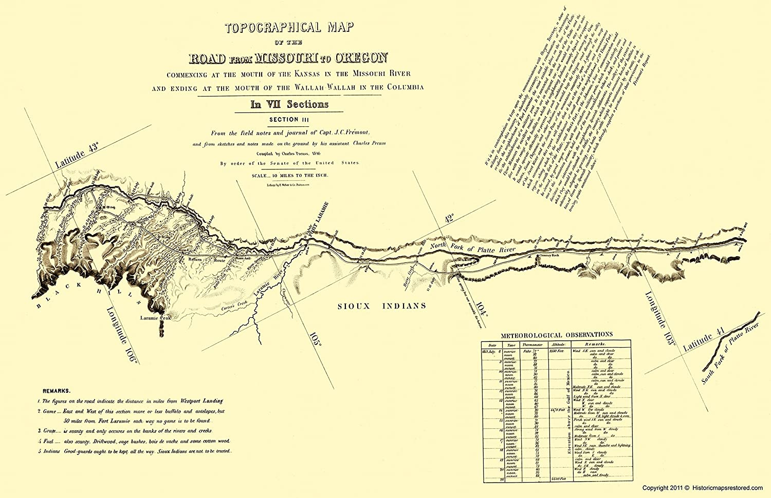 Oregon Trail On Us Map.Amazon Com Topographical Map Oregon Trail Wyoming 3 Of 7