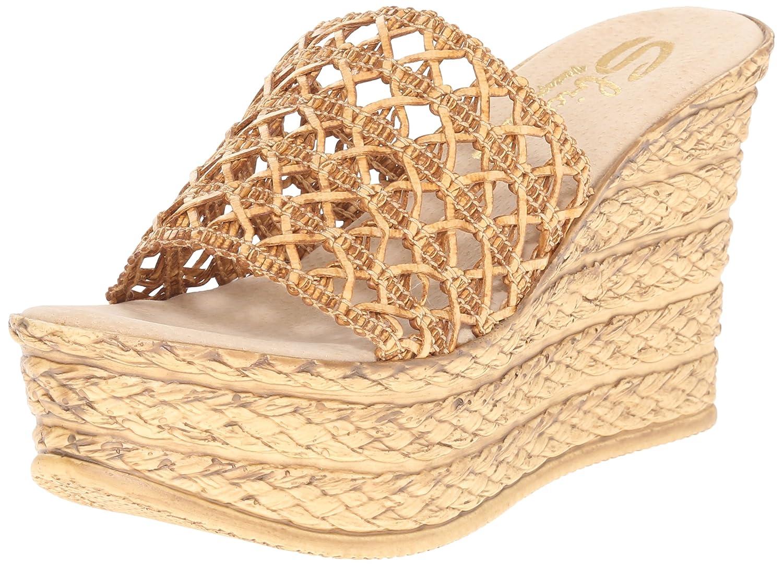Sbicca Women's Plantain Wedge Sandal B015UOW7ME 9 B(M) US Tan