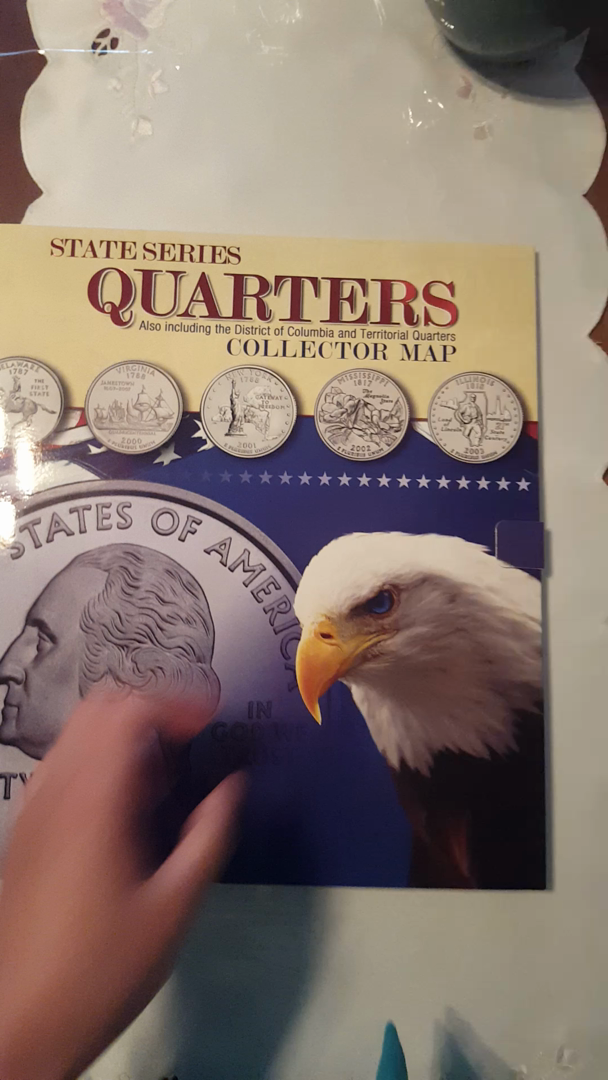 Amazoncom State Series Quarters Collector Map Also Including - Us quarter collector map