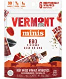 Vermont Smoke & Cure Mini Meat Stick Go Pack, Beef, Antibiotic Free, Gluten Free, BBQ, .5oz Stick, 6 Count