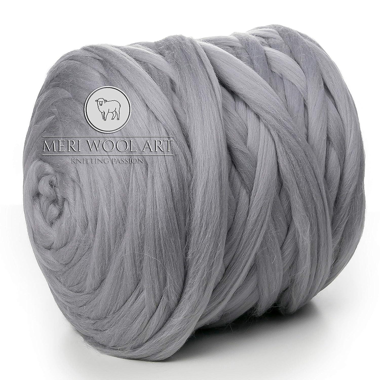 MeriWoolArt 100% Merino Wool Chunky Yarn Super Soft 25 Micron Extra Thick  4177735cc76a