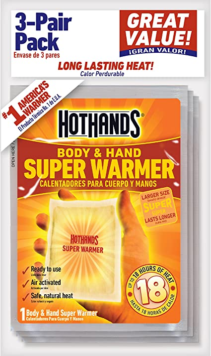 Set Of 2 HotHands Variety Packs Hand /& Toe Warmers Body /& Hand Super Warmers