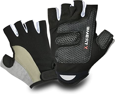Fingerless Gloves Driving Weight Lifting Gym Training Cycling Wheelchair Gloves