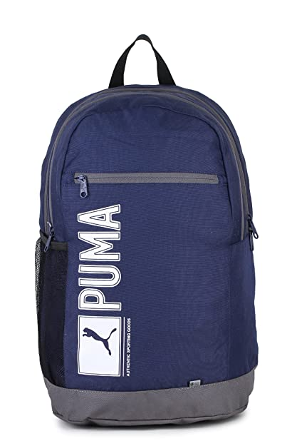 4d9e546710 Puma Navy Laptop Backpack (7593401)  Amazon.in  Bags