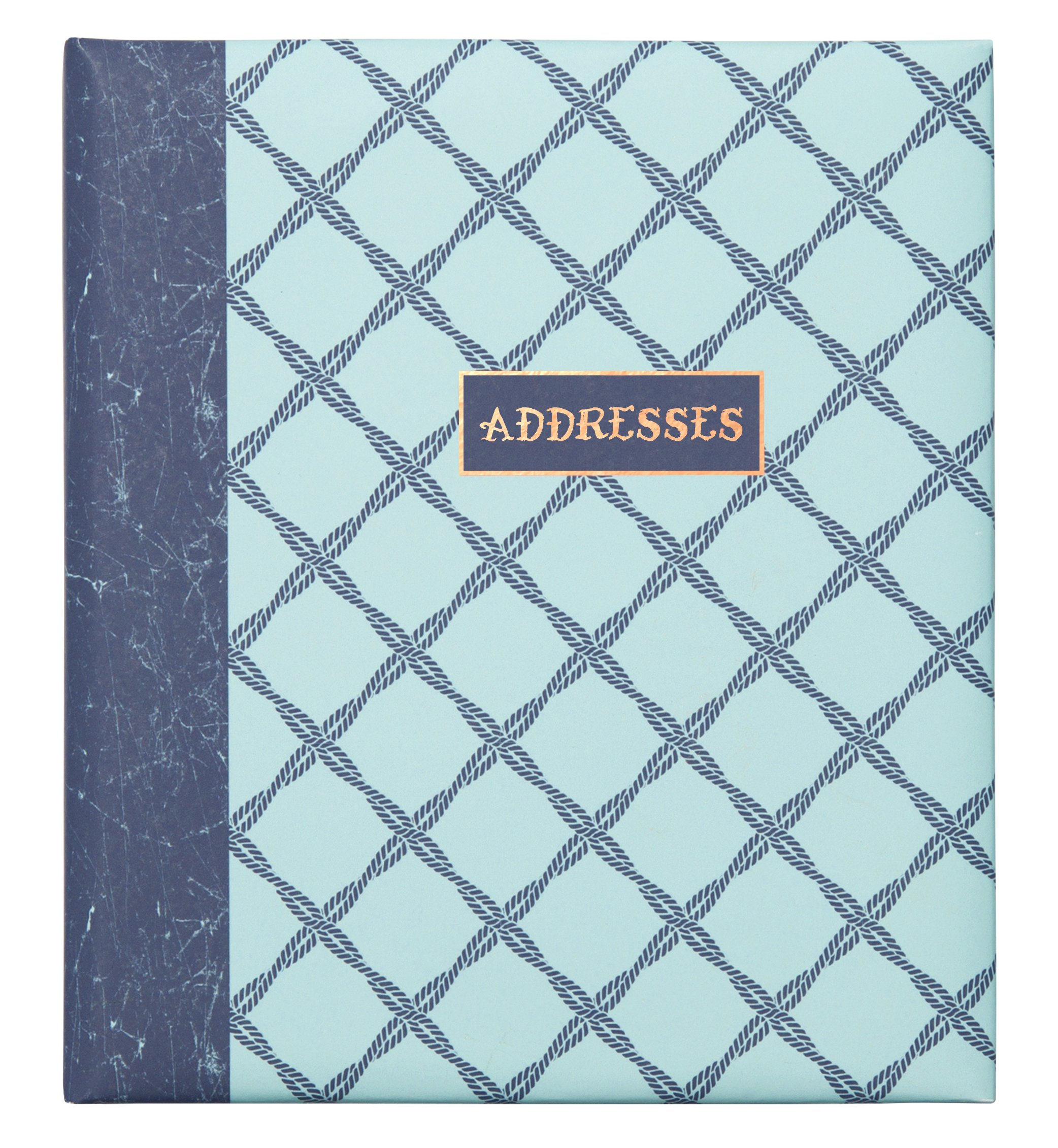 C.R. Gibson Refillable Address Book, 6-Ring Binder Format, Tabbed Dividers, 4 Entries Per Page, 440 Contacts, Measures 6.5'' x 7.25'' - Ocean's Depth by C.R. Gibson (Image #1)