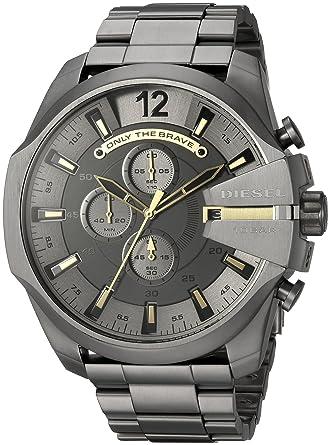 7dec3a250 Amazon.com: Diesel Men's Analog-Quartz Watch with Stainless-Steel Strap,  Grey, 26 (Model: DZ4466: Watches
