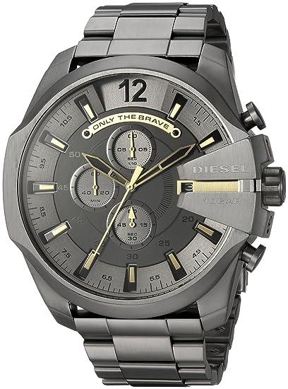 Diesel Reloj Cronógrafo para Hombre de Cuarzo con Correa en Acero Inoxidable DZ4466: Amazon.es: Relojes