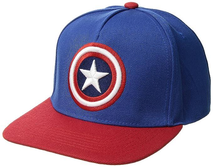 Marvel Gorra de béisbol para Hombre de Capitán América con Escudo Bordado  3D 044714979c2