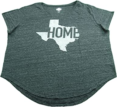 Amazon Com State Of Mine Ladies Tx Home T Shirt Charcoal Heather