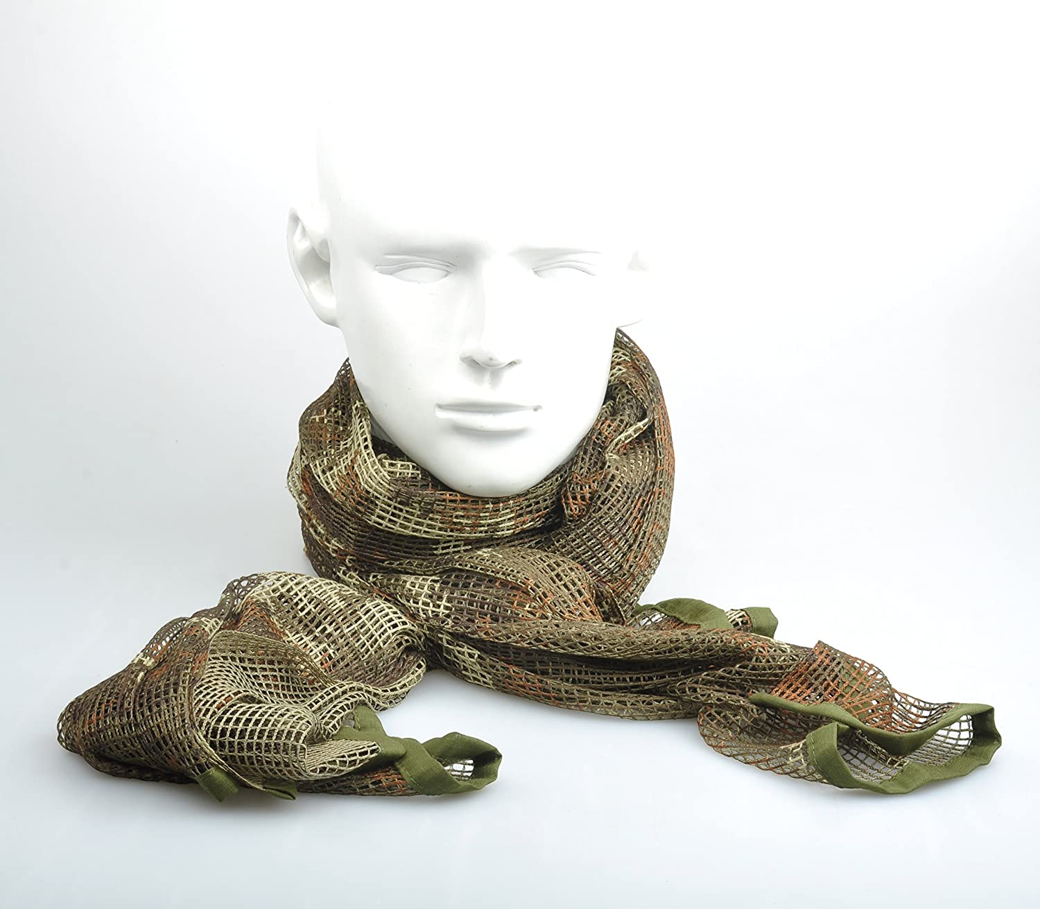 Russian YEGER Woodland Camo Tactical Mesh Scarf Wrap Mask Shemagh