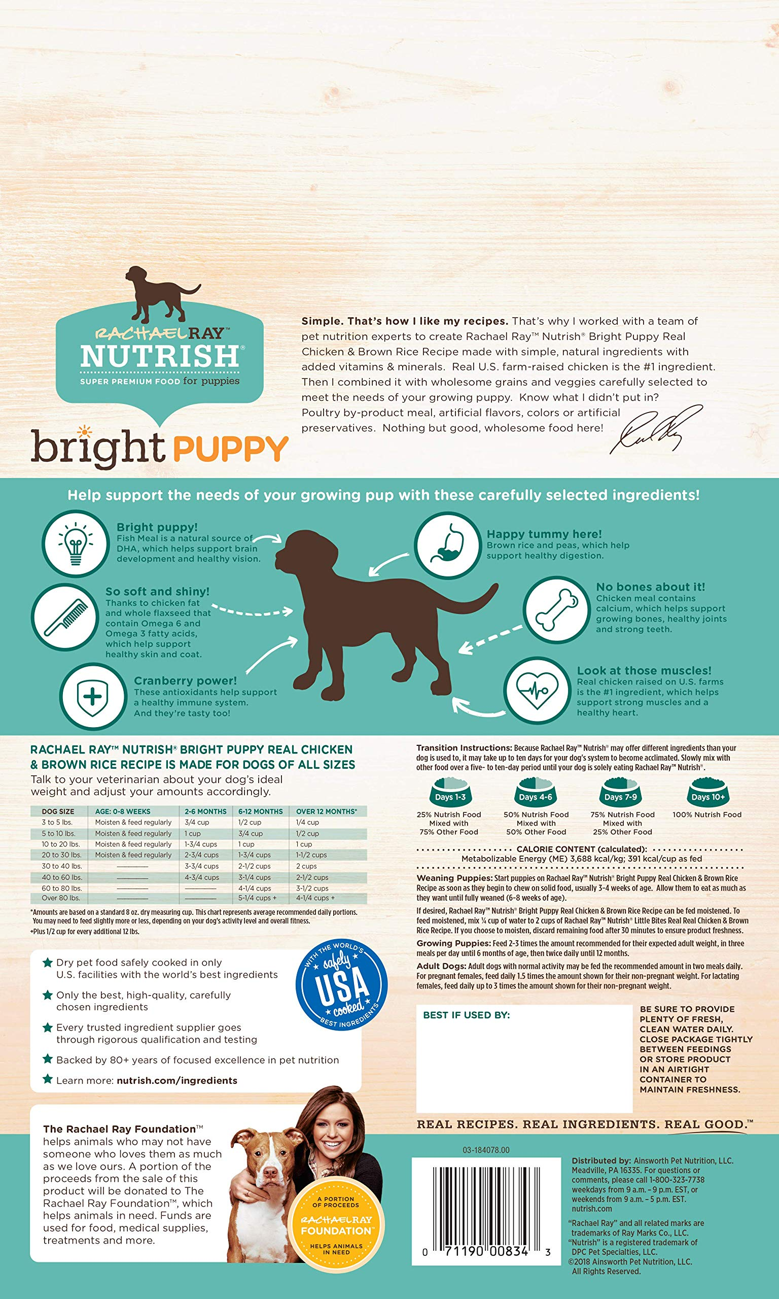 Rachael Ray Nutrish Bright Puppy Natural Dry Dog Food - Pets