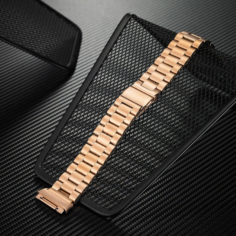 Fitbit banda iónico, shangpule Metal de acero inoxidable ...