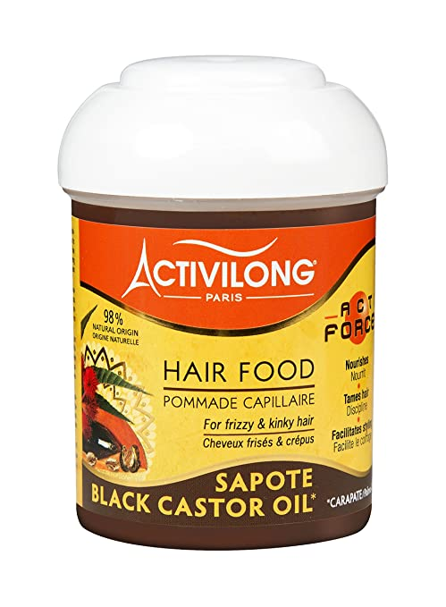 Activilong Actiforce Hair Food - Bálsamo capilar, ricino y sapote, 125 ml, lote