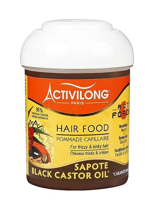 Activilong Actiforce Hair Food - Bálsamo capilar, ricino y sapote, 125 ml, lote