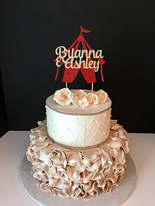 Decoración para tarta con diseño de circo y 10 circos ...