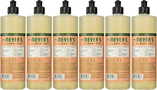 product image for Mrs. Meyer's Clean Day Dish Soap, Geranium, 16-Ounce Bottles (Case of 6)