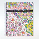 "2017 Calendar - Adult Coloring Calendar/Planner - Spiral Bound - Designer Organizer 8.5"" x 11"" Planning Calendar and Coloring Book"