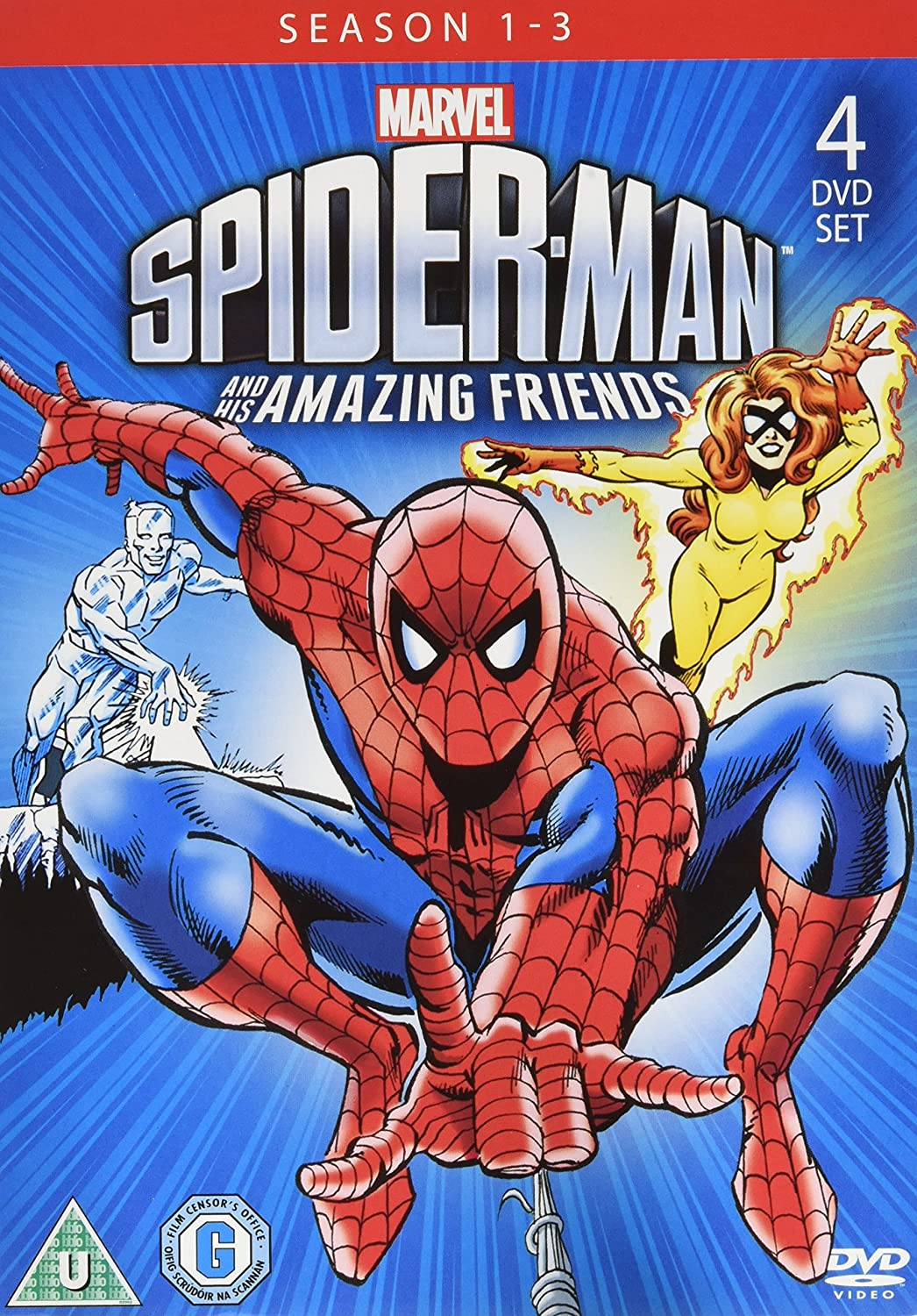 Spider - Man & His Amazing Friends Season 1 - 3 4DVD Marvel ...