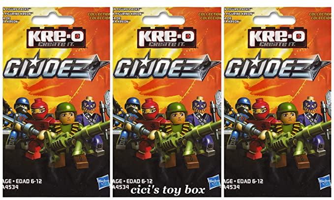 Amazon.com: THREE Kre-O GI Joe Kreon Figure Packs, Set of 3 ...