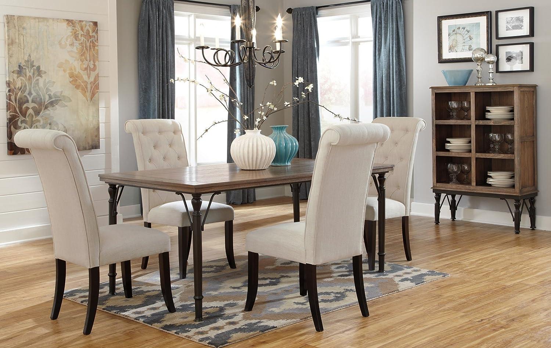 Amazon com signature design by ashley tripton rectangular dining room set table chair sets