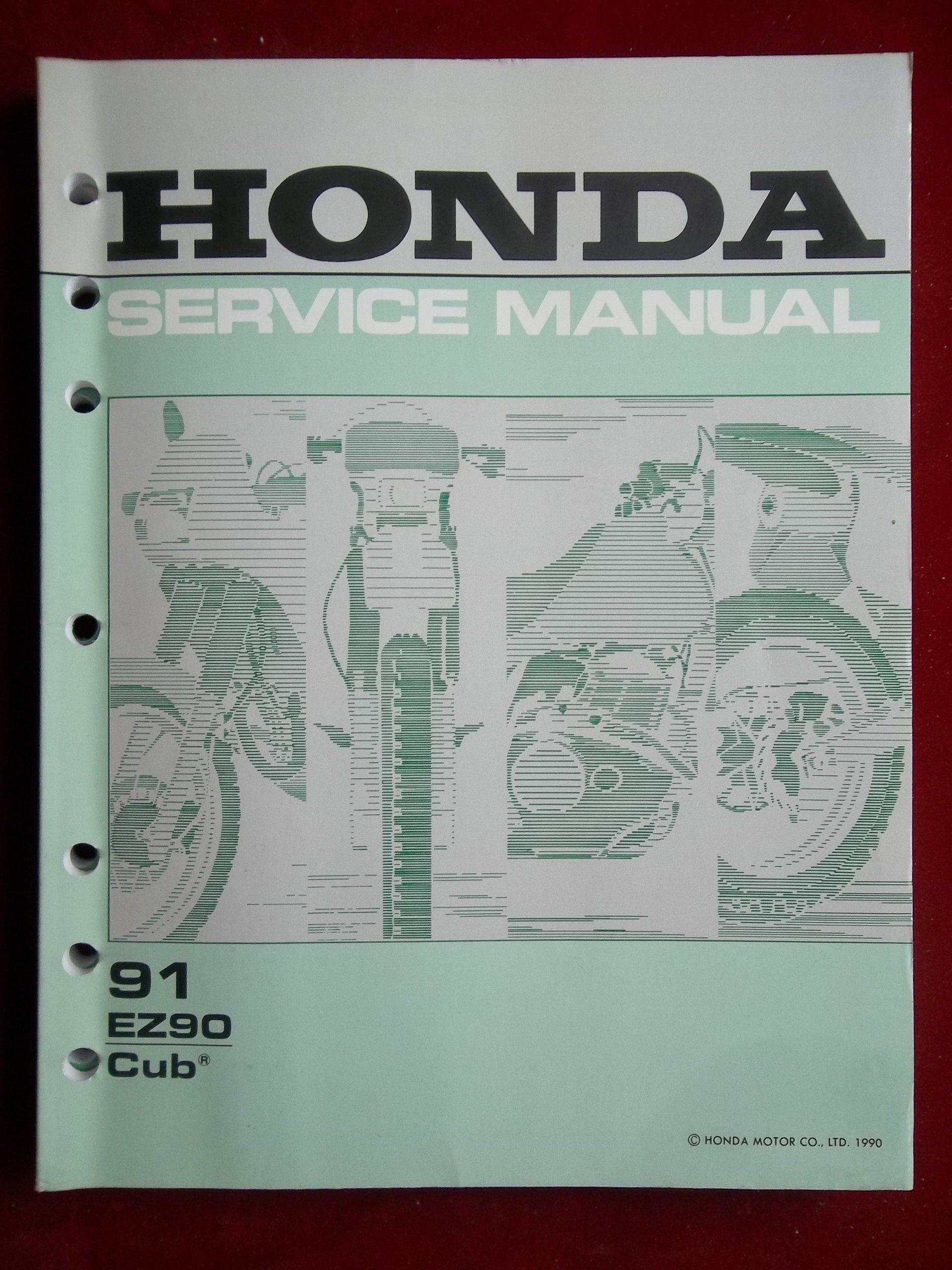 1991 EZ90 EZ 90 Cub Honda Service Shop Repair Manual 61GZ400: HONDA:  Amazon.com: Books