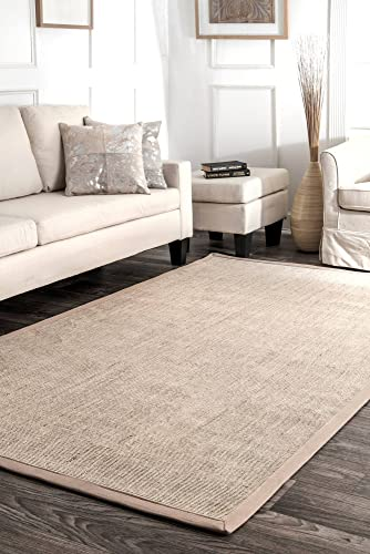 nuLOOM Maryjo Bordered Sisal Area Rug