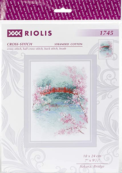 "Fuji/"" /""Sakura Counted Cross Stitch Kit RIOLIS 1744"