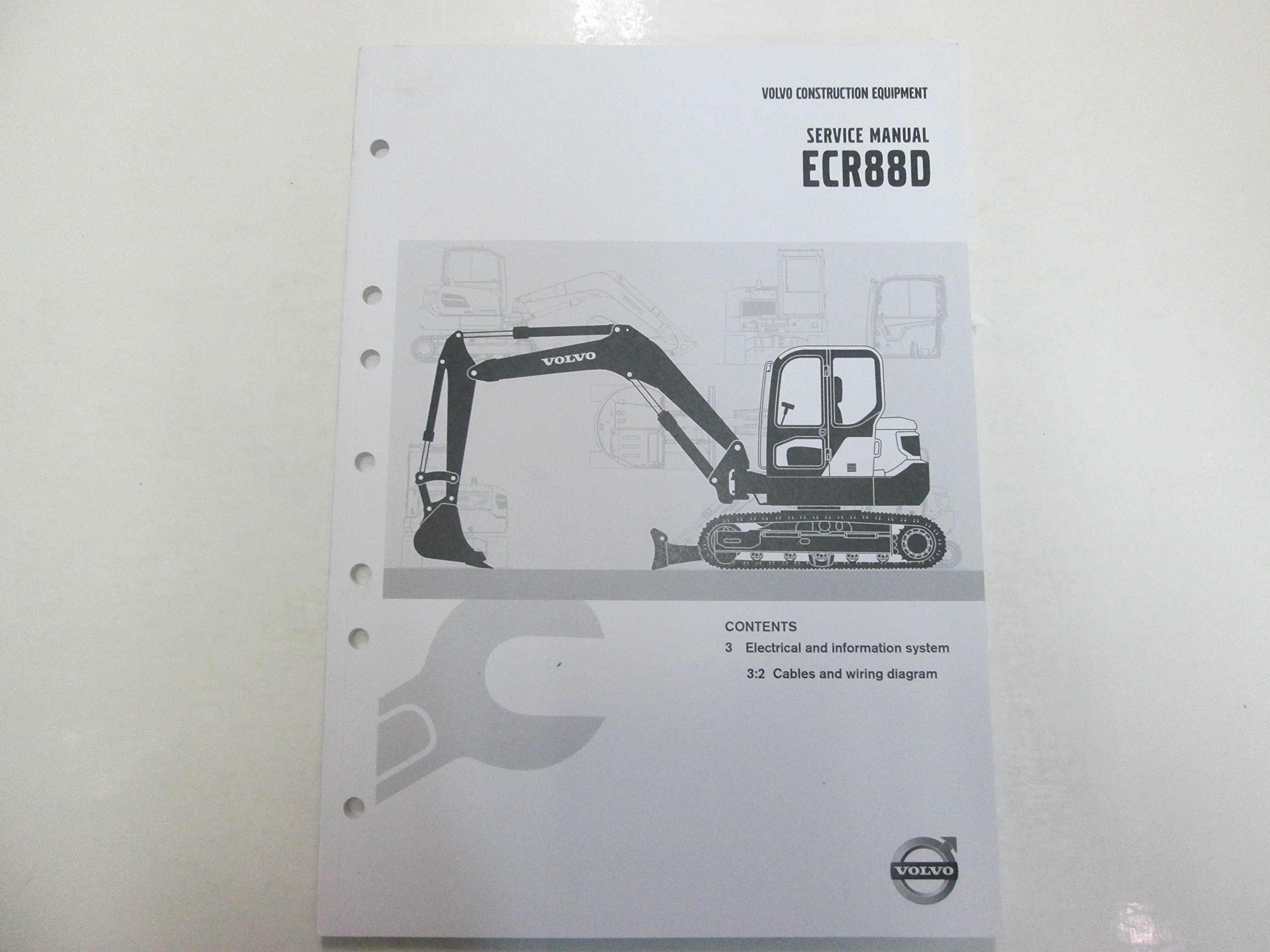 2014 volvo ecr88d electrical & info system cables wiring diagram manual  deal ***: volvo: amazon com: books
