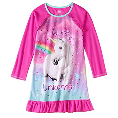 eec7a27a98a Amazon.com  Girls  Graphic Pajama Long Sleeve Nightgown featuring Puppy