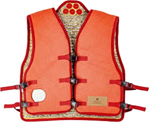 """Healthyline Far Infrared Heated Vest - Shoulder and Back Pain Relief – Hot Amethyst Stone Sauna Pad –Negative Ions and Photon Light Therapy - Electric Auto Shut Off - 40"""" x 22"""" XL"""