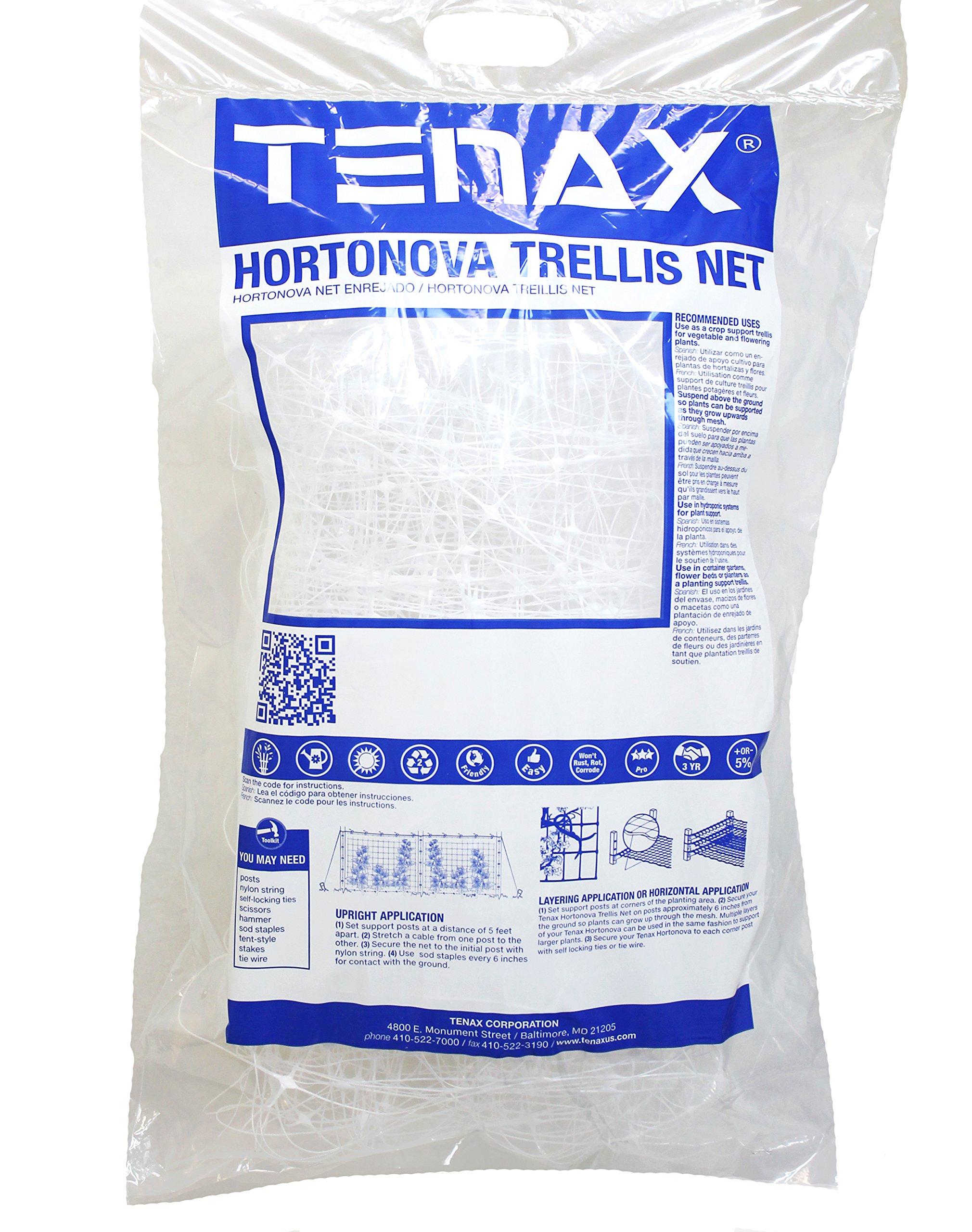 Tenax 2A150061 Hortonova Plant Trellis Net Lm, 59'' x 100', White