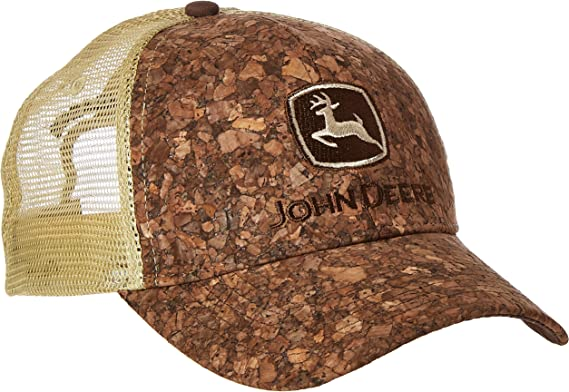 John Deere Mens Tree Bark Tan Mesh Cap: Amazon.es: Ropa y accesorios