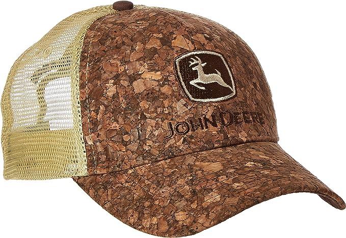 John Deere Mens Tree Bark Tan Mesh Cap: Amazon.es: Ropa y accesorios