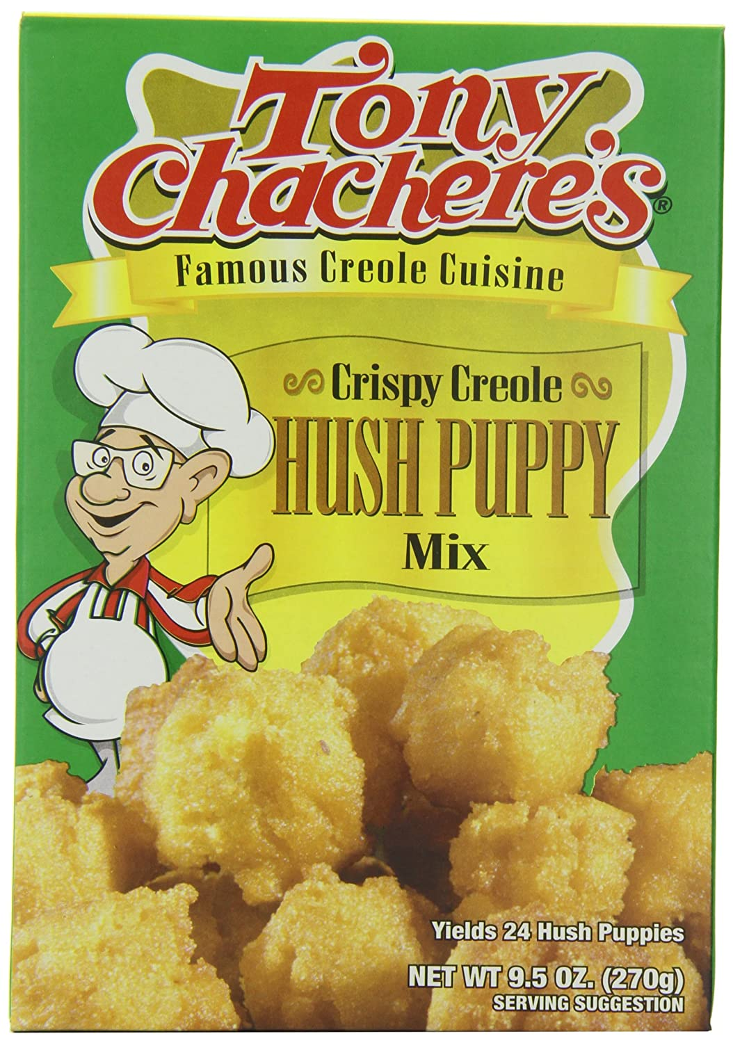 Tony Chachere's Creole Hush Puppy Mix, 9.5-Ounce Bags (Pack of 12)