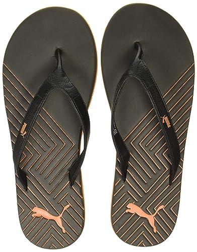 cc930f6c305c2e Puma Unisex Webster Ind. Puma Black and Vibrant Orange Hawaii Thong Sandals  - 11 UK