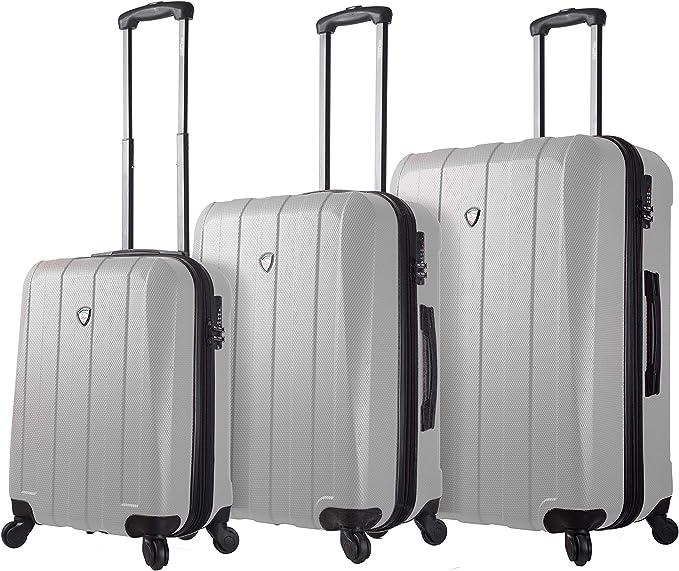Mia Toro Italy Tosetti Hardside Spinner Luggage 3pc Set,Black