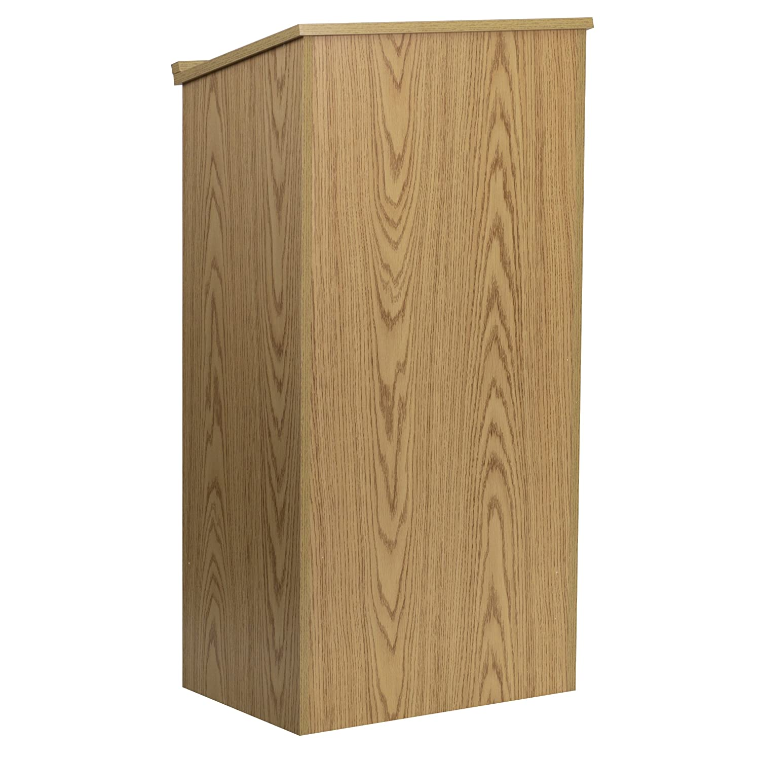 Flash Furniture Stand-Up Wood Lectern in Oak MT-M8830-LECT-OAK-GG