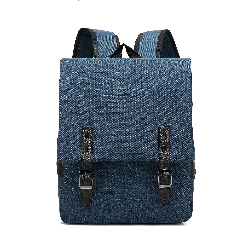 029# 15 inch Laptop Bag Business Case Classic Daypack Bookbag Travel Backpack School Bag Rucksack (dark blue)