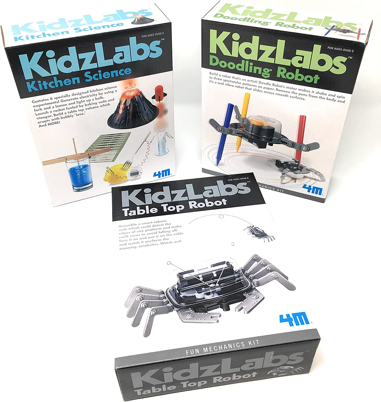 4M Los experimentos KidzLabs Robot Juguetes ciencia para niños ...