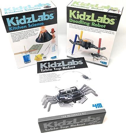 Amazon.es: 4M Los experimentos KidzLabs Robot Juguetes Ciencia para niños, Cocina Ciencia, la Mesa del Robot, Robot Garabateando - Kits Ciencia para Niños - Robot - Robótica para niños - por y