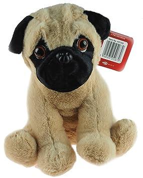 Sentado 21 cm de peluche suave perro Pug juguetón juguete
