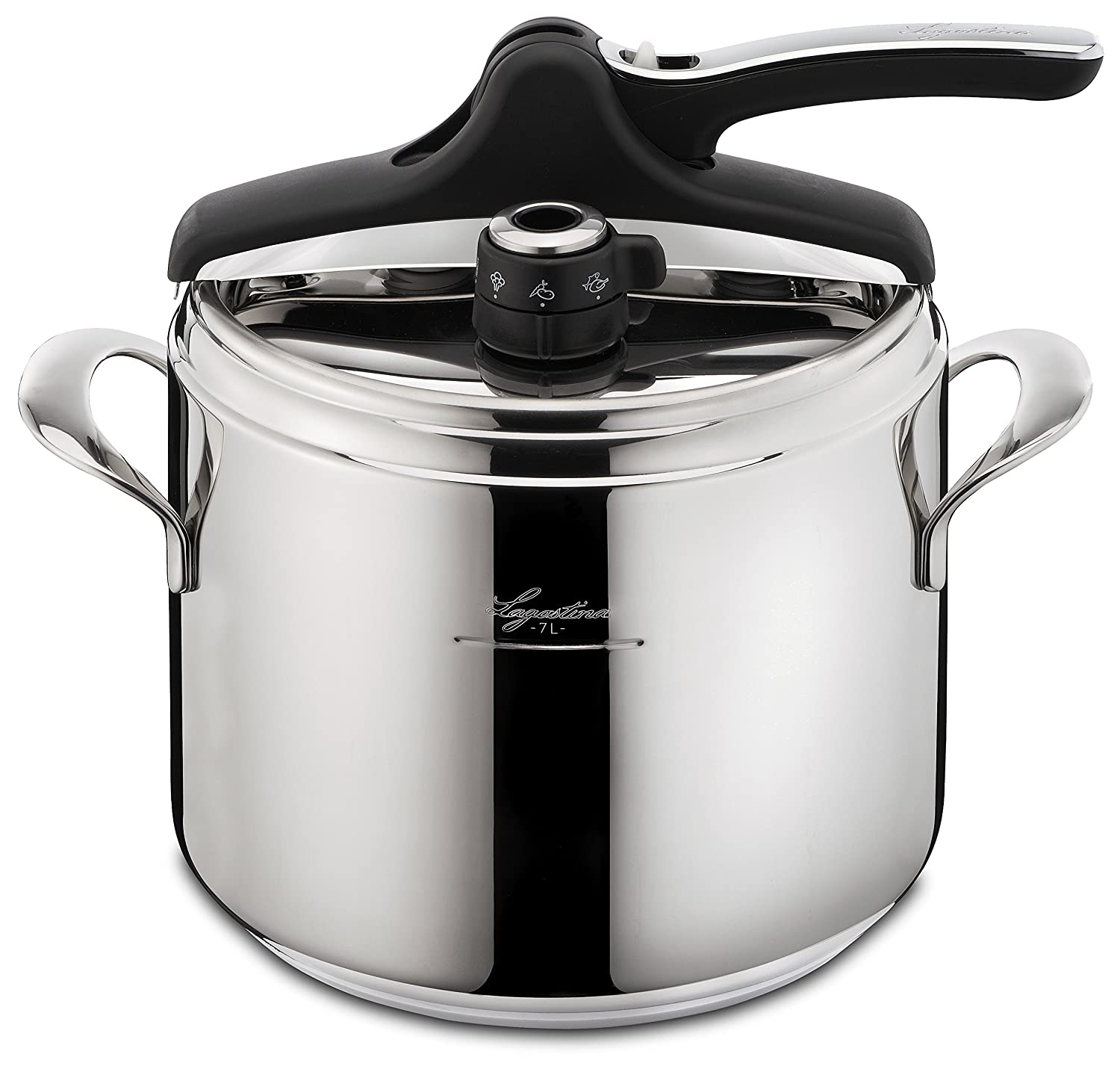 Amazon.com: Lagostina Q5510664 Domina Vitamin Polished Stainless Steel  Induction Safe 6 / 10-PSI Pressure Cooker Cookware, 7.4-Quart, Silver:  Kitchen & ...