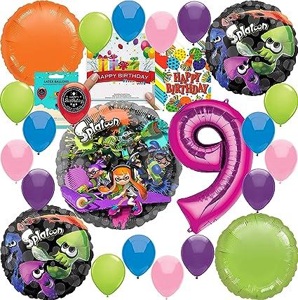 Amazon.com: Splatoon Party Supplies - Globo de decoración ...