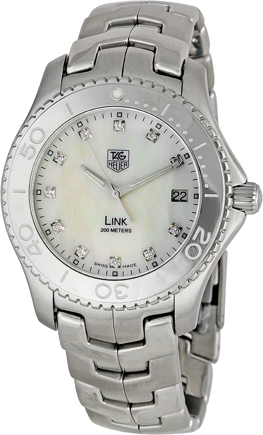 TAG Heuer Men s WJ1114BA0575 Link Mother-Of-Pearl Dial Watch